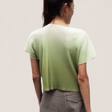 Load image into Gallery viewer, Pleats Please - Aurora Mist Boxy Tee, back view, available at LCD.