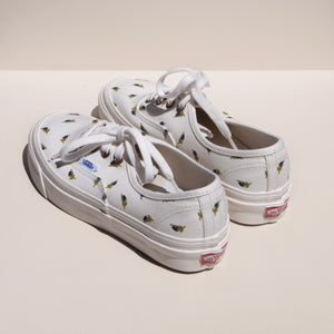 Vans - Authentic 44 DX - Blue Bud Linen, rear view, available at LCD.