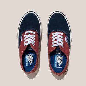 Vans - Authentic SF Salt Wash - Dress Blues and Burnt Brick, aerial view, available at LCD.
