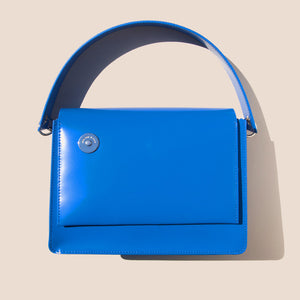 Kara - Pinch Shoulder Bag - Studio Blue, available at LCD