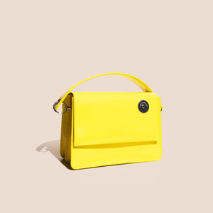 Kara - Baby Pinch Shoulder Bag - Yellow, available at LCD
