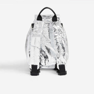 1017 Alyx 9SM - Baby-X Backpack - Silver, back view, available at LCD.
