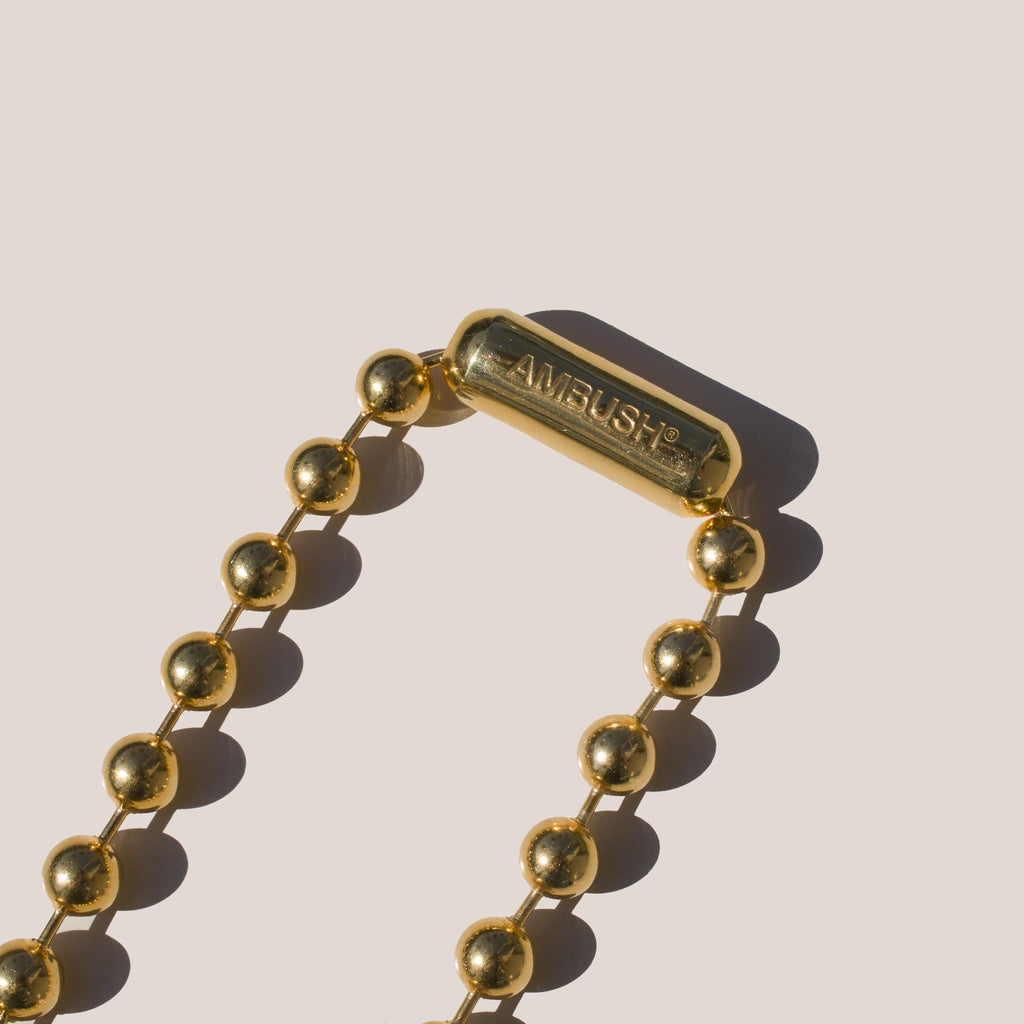 Ambush - Ball Chain Necklace, clasp detail.