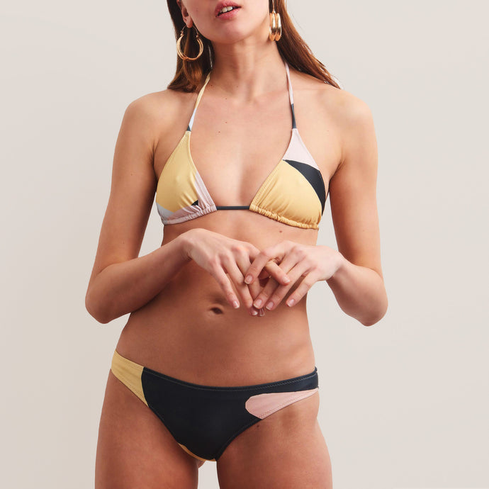 Bower Swimwear - Base Bikini Set - Monte Blanc & the Window, front view, available at LCD.