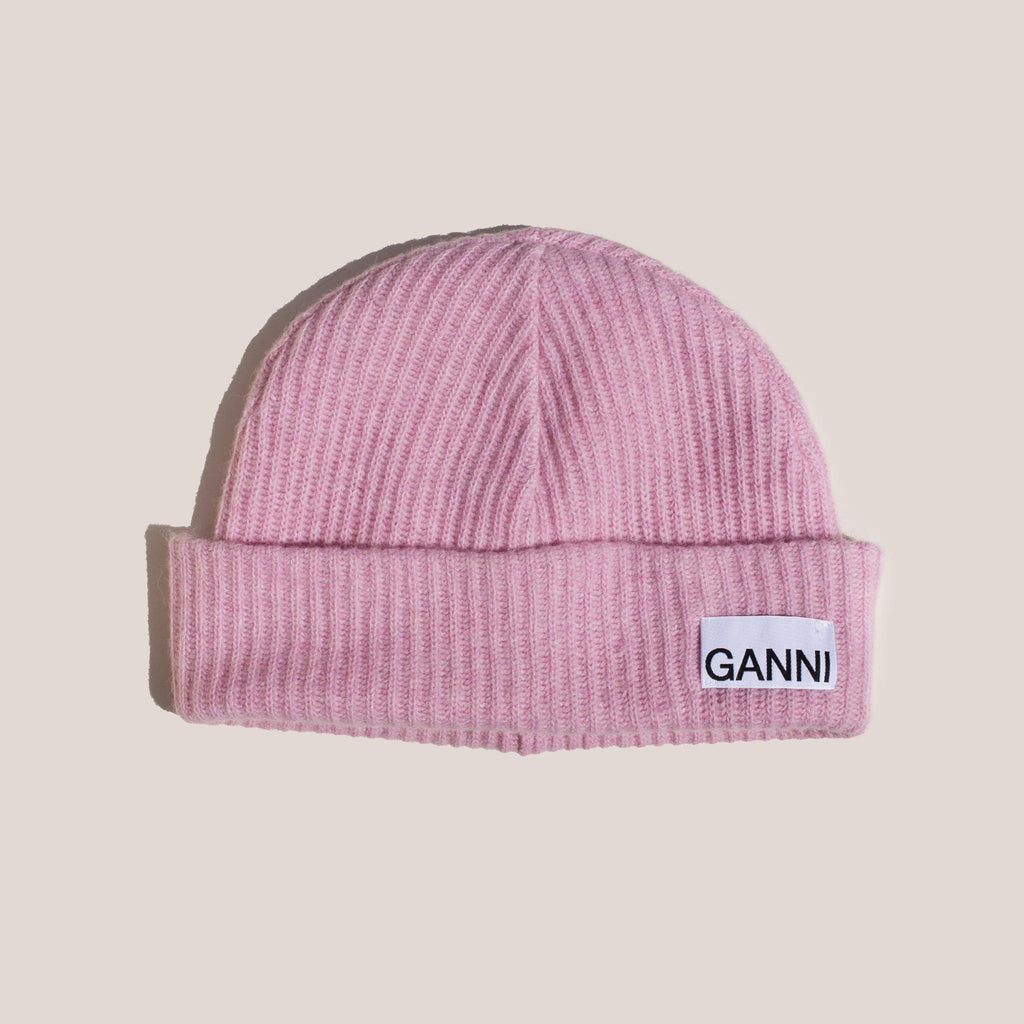 Ganni - Beanie - Sweet Lilac, available at LCD.