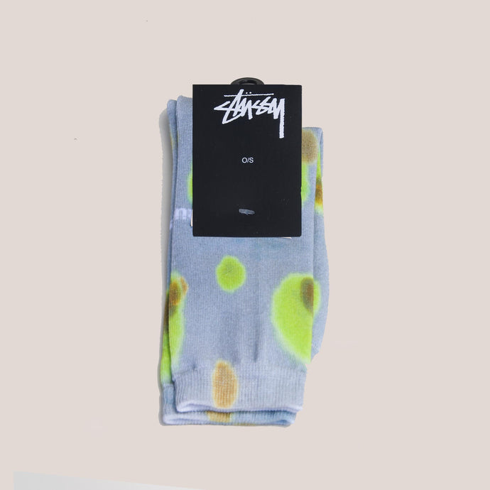 Stussy - Blob Everyday Socks - Khaki, available at LCD.