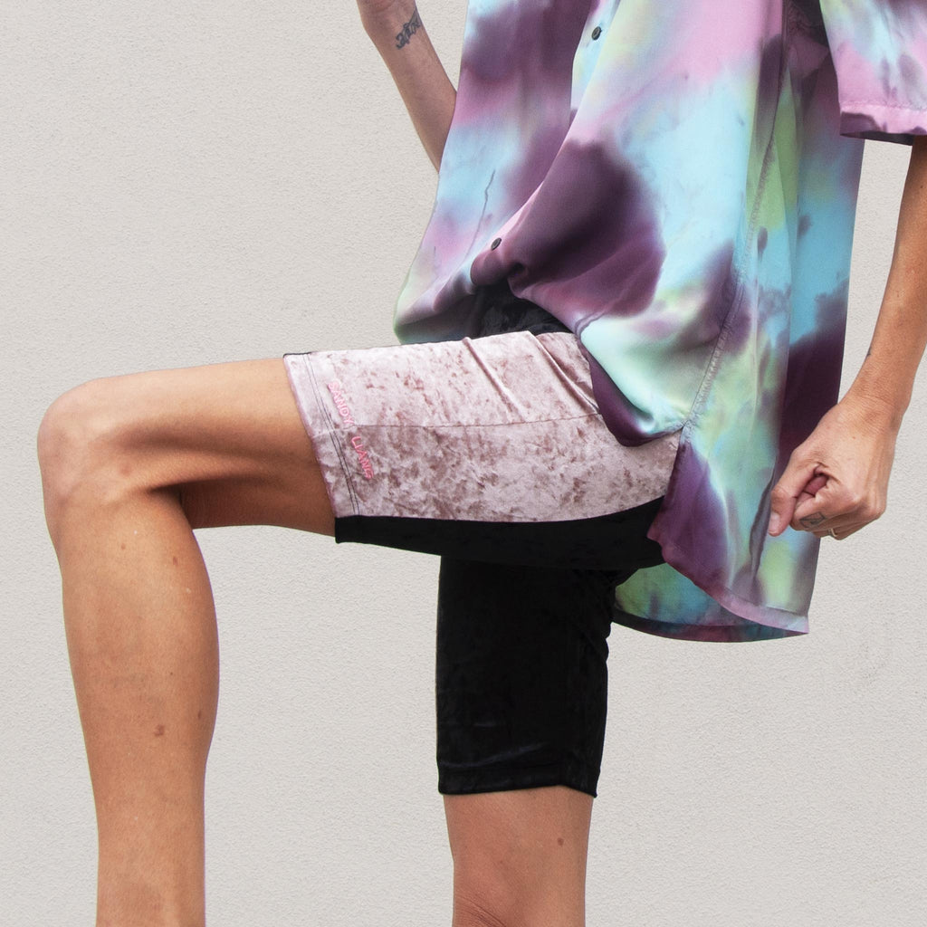 Sandy Liang - Bobo Shorts, side view, available at LCD.