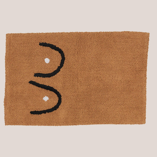 Cold Picnic - Boob Bath Mat in Brown.