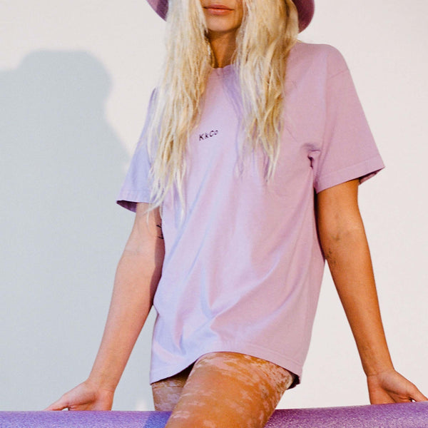 Kkco - Boy Tee in Lavender, front view, available at LCD.
