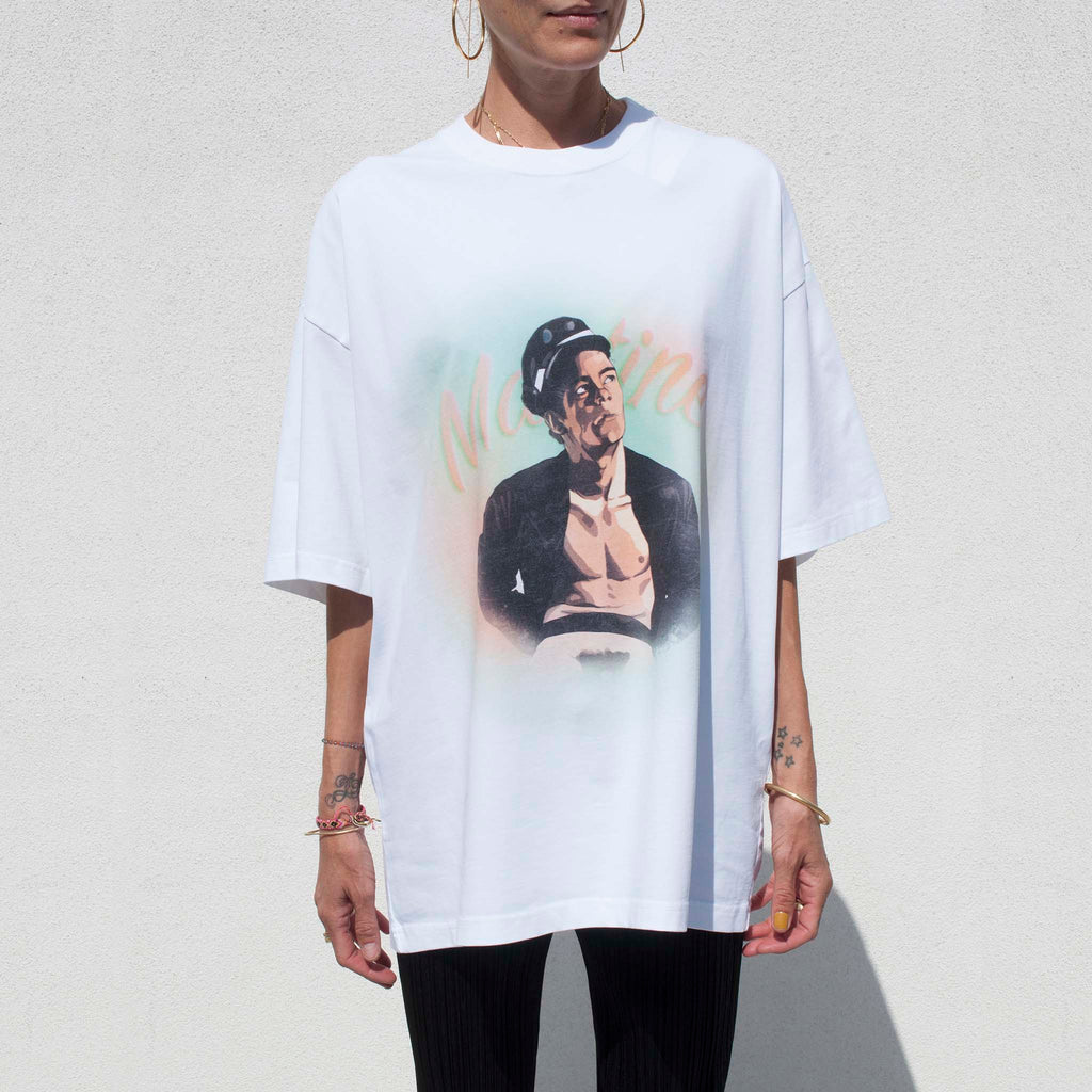 Martine Rose, Brittle T Shirt - White Sailor, available at LCD.