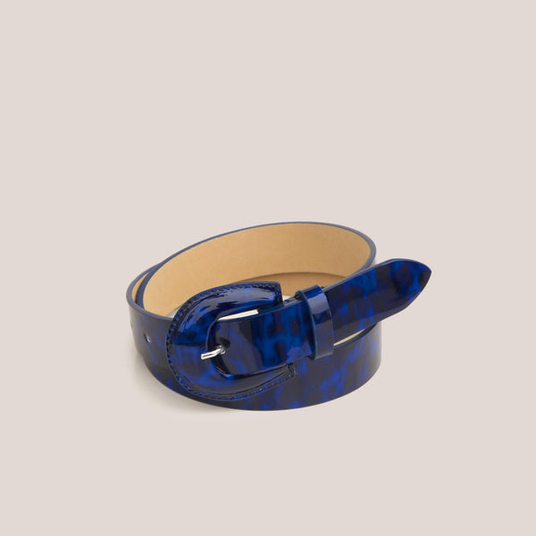 Maryam Nassir Zadeh - Bruno Belt - Navy Tortoise, available at LCD.