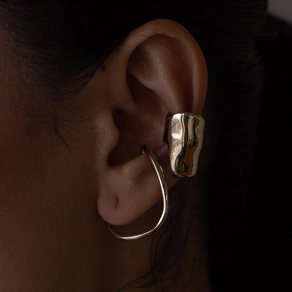 Faris - Bubble Ear Cuff - Bronze, available at LCD.