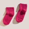 Baserange - Buckle Ankle Socks in Calico Pink, pictured as a pair.