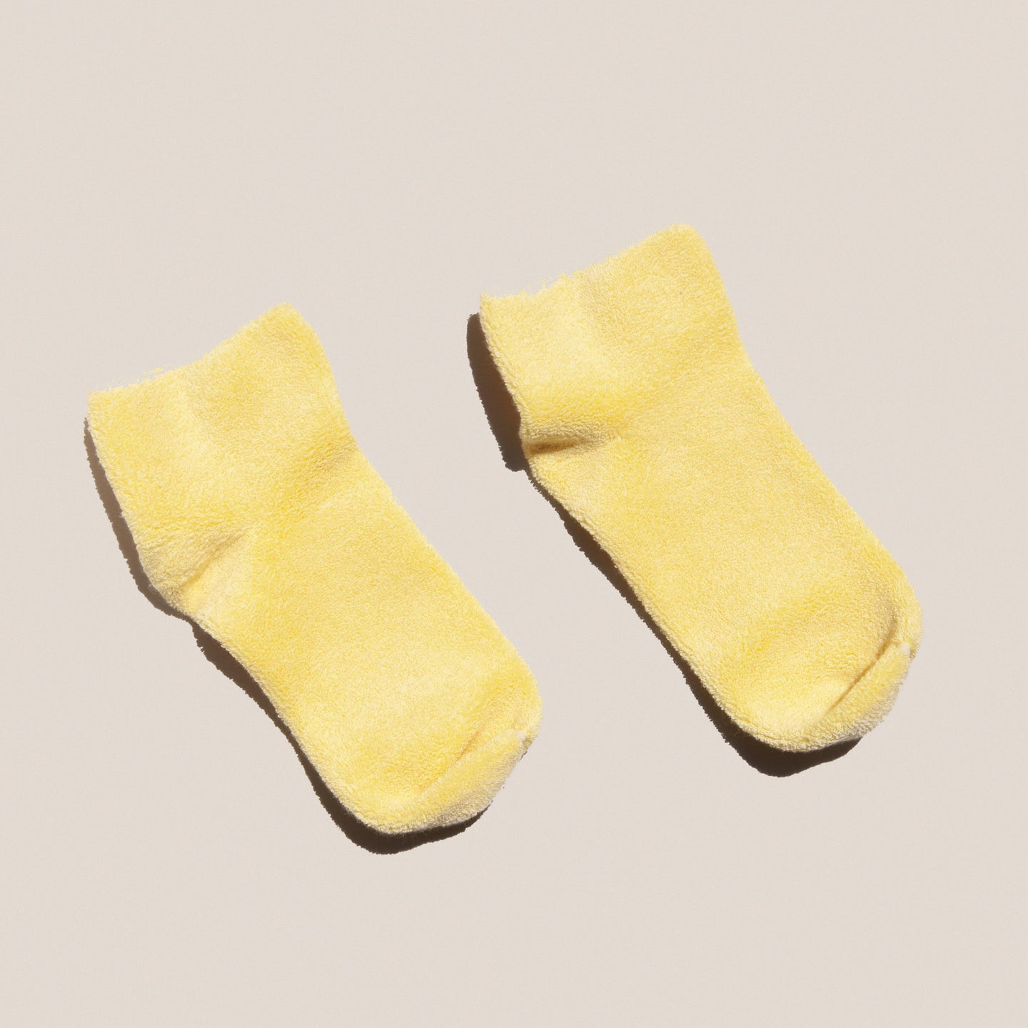 Baserange - Buckle Ankle Socks in Boat Yellow, available at LCD.