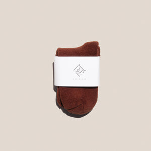 Baserange - Buckle Ankle Socks in Tove Brown, available at LCD.