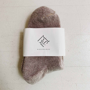 Baserange - Buckle Ankle Socks - Nude.
