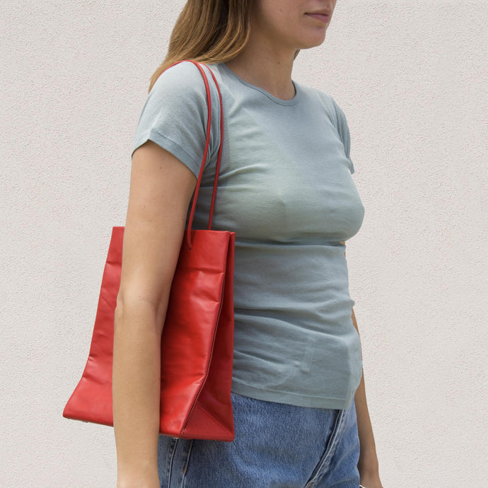 Medea - Tall Busted Bag - Red, available at LCD.