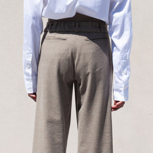 Delada - Button Front Wide Leg Trouser, back view, available at LCD.