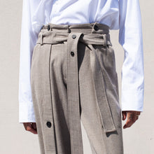 Load image into Gallery viewer, Delada - Button Front Wide Leg Trouser, front detail view, available at LCD.