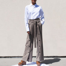 Load image into Gallery viewer, Delada - Button Front Wide Leg Trouser, front view, available at LCD.