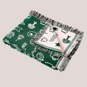 Areaware - Cairo Throw - Green/Pink, available at LCD.