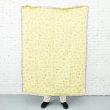 Load image into Gallery viewer, Areaware - Cairo Throw - Gray/Yellow, available at LCD.