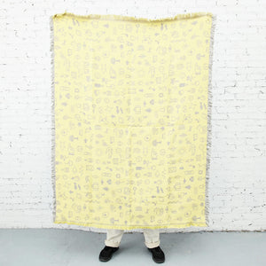 Areaware - Cairo Throw - Gray/Yellow, available at LCD.