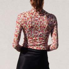Load image into Gallery viewer, Collina Strada - Cardio Nova Top - Strawberry Shortcake Lace, back view, available at LCD.