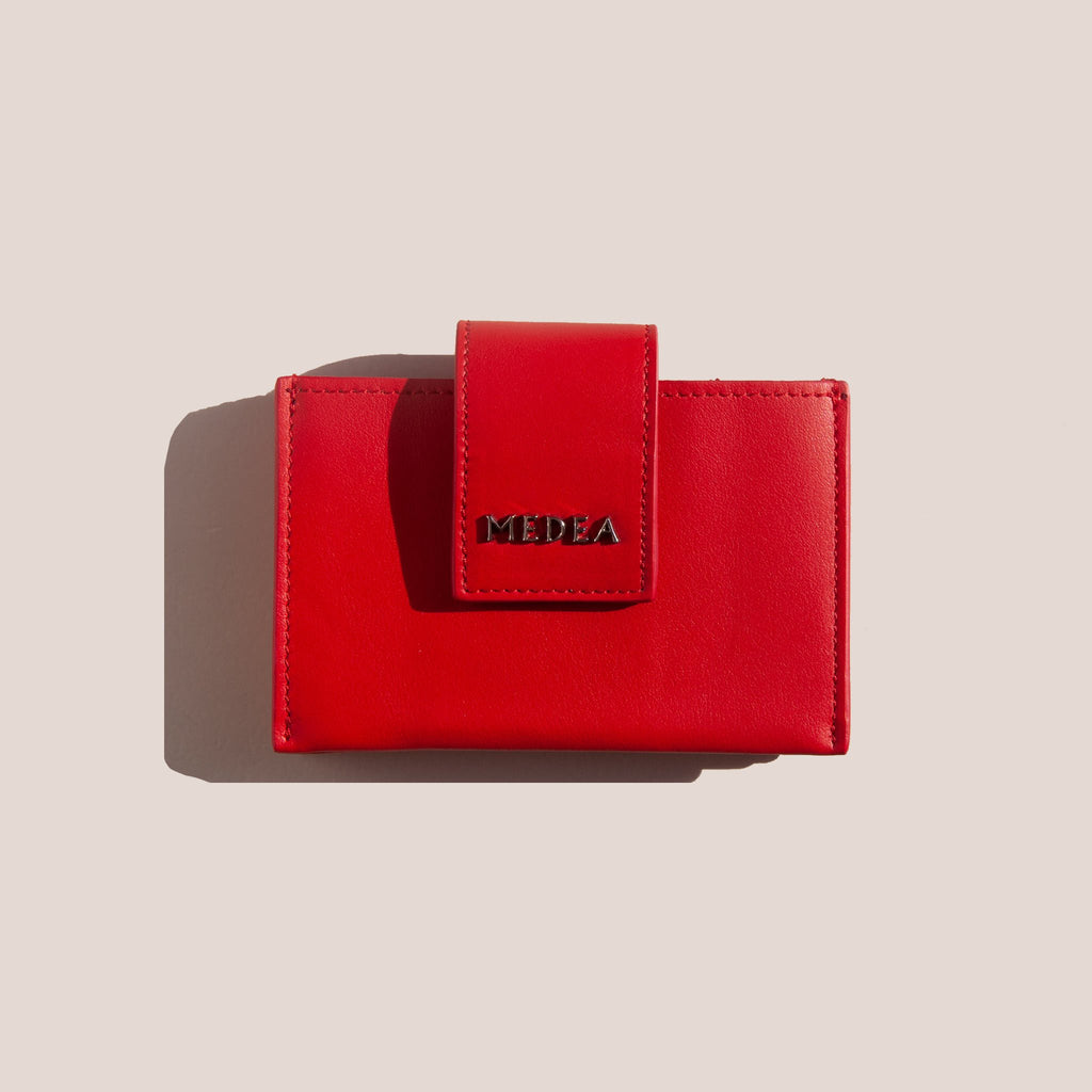 Medea - Small Casino 5-Pocket Wallet - Red, available at LCD.