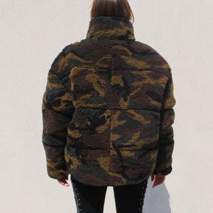 Sandy Liang - Catan Puffer, back view, available at LCD.