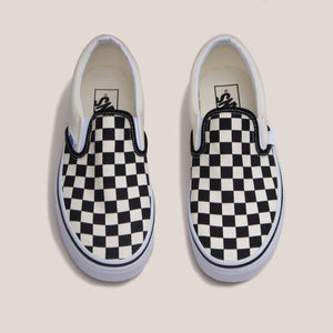 Vans - Vans - Classic Checkerboard Slip-On, available at LCD, aerial view, available at LCD.