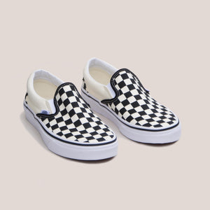Vans - Vans - Classic Checkerboard Slip-On, available at LCD, angled view, available at LCD.