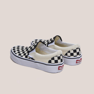 Vans - Vans - Classic Checkerboard Slip-On, available at LCD, back view, available at LCD.
