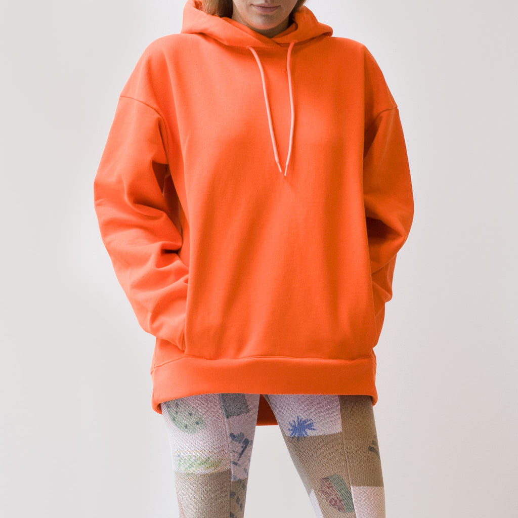 Martine Rose - Classic Hoodie - Fluoro Orange, front view, available at LCD.
