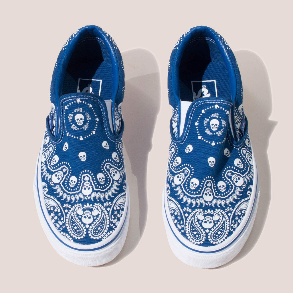 Vans - Classic Slip On in Bandana, front view.