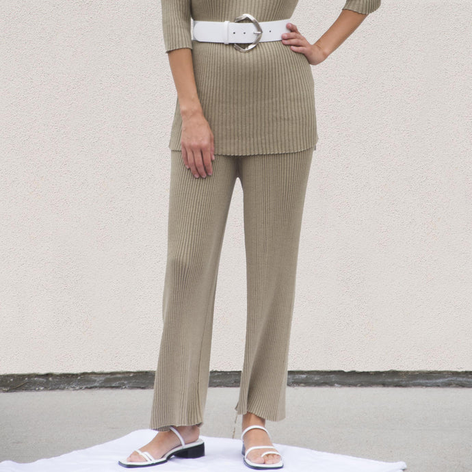 Lauren Manoogian - Column Pants - Drab, front view, available at LCD.