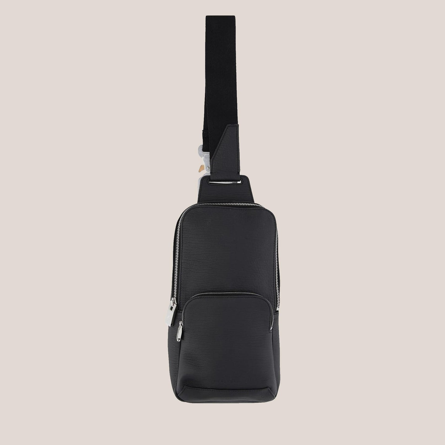 1017 Alyx 9SM - Small Crossbody Bag in Black, front view, available at LCD.