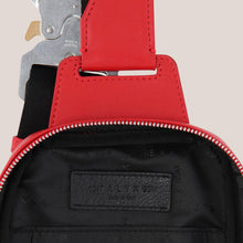 Load image into Gallery viewer, 1017 Alyx 9SM - Small Crossbody Bag in Red, detailed view of interior, available at LCD.