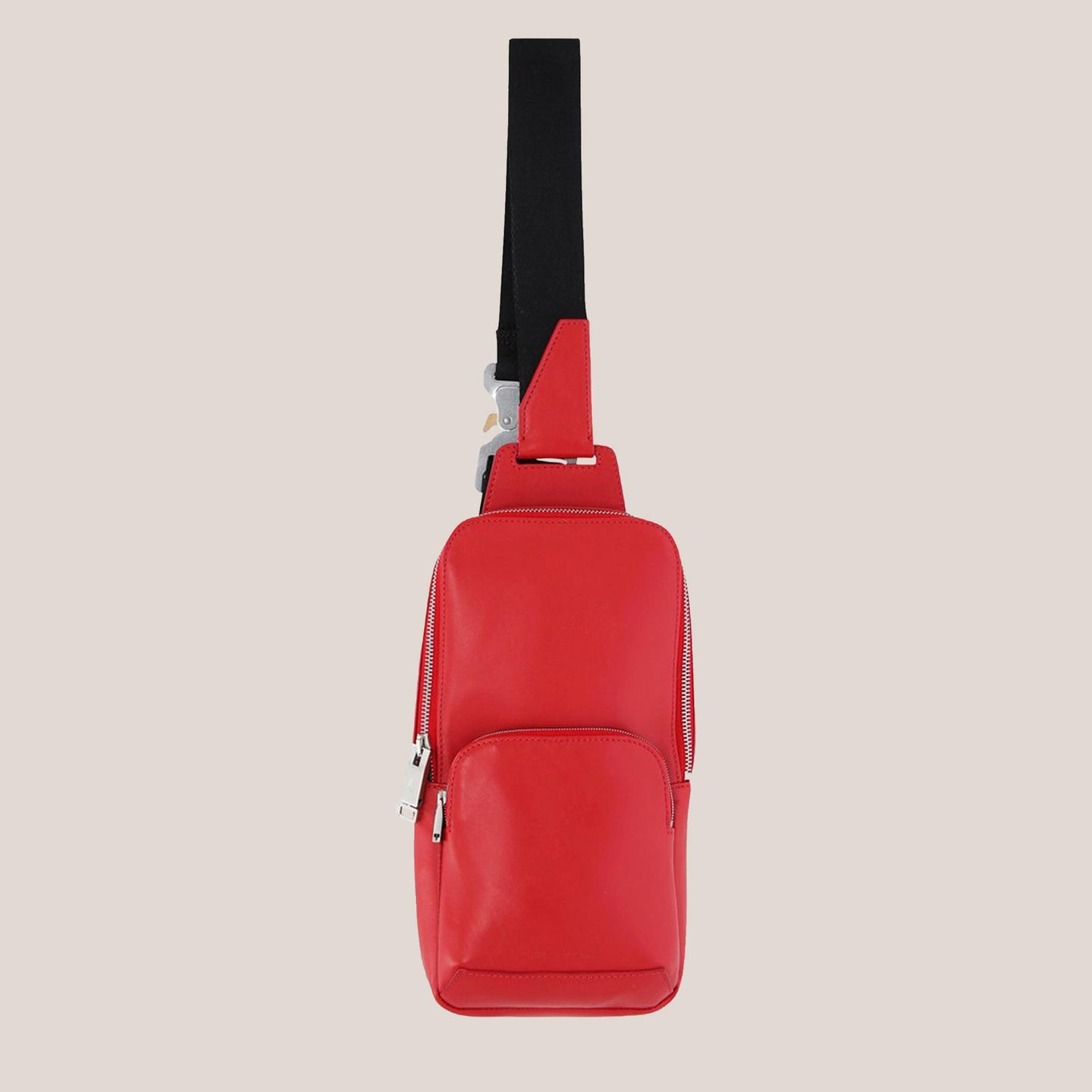 1017 Alyx 9SM - Small Crossbody Bag in Red, front view, available at LCD.