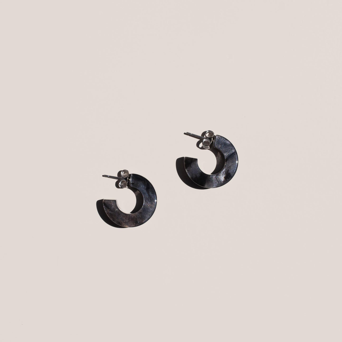 Rachel Comey - Cuba Earrings in Black Marble, available at LCD.