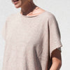 Lauren Manoogian, Shell Tee - Ecru, detail view.
