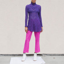 Load image into Gallery viewer, Sies Marjan - Danit Compact Stretch Flare Pant in Fluo Pink, front view, available at LCD.