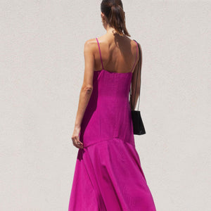 Mara Hoffman - Diana Dress in Hot Pink, back view, available at LCD.
