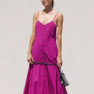 Mara Hoffman - Diana Dress in Hot Pink, front view, available at LCD.