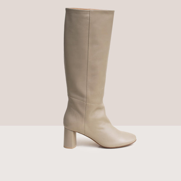 Loq - Donna Boots - Ash, side view.