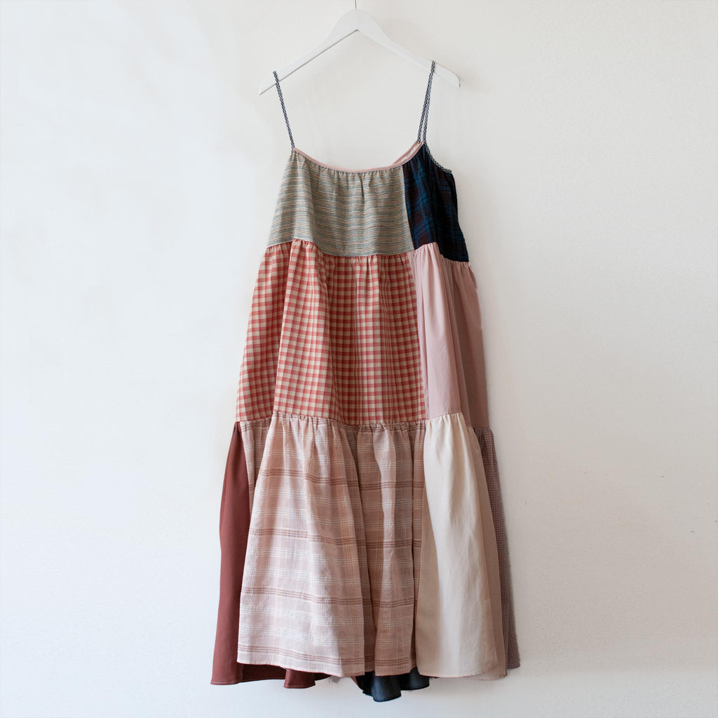 La Réunion - Neutral Patchwork Dress No. 9