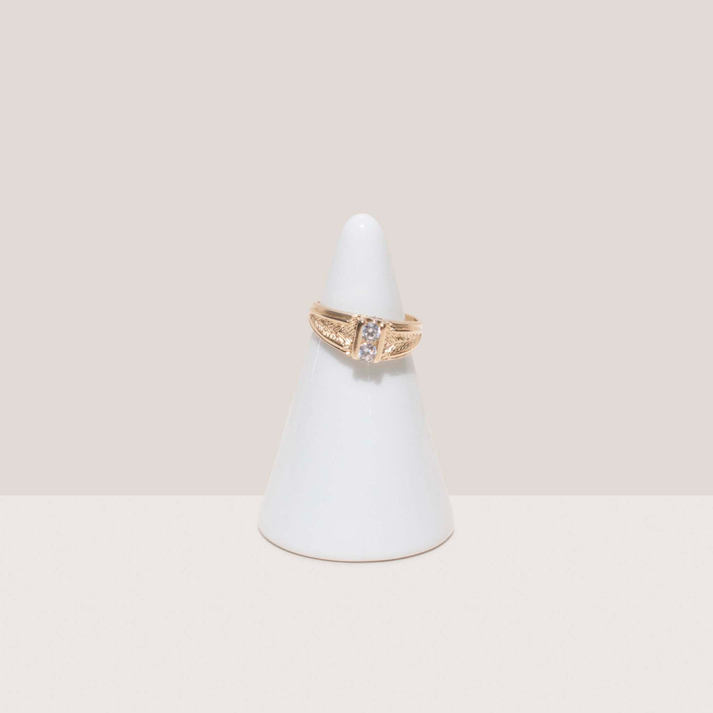 Dela Gold, Dual Stone Ring, available at LCD.