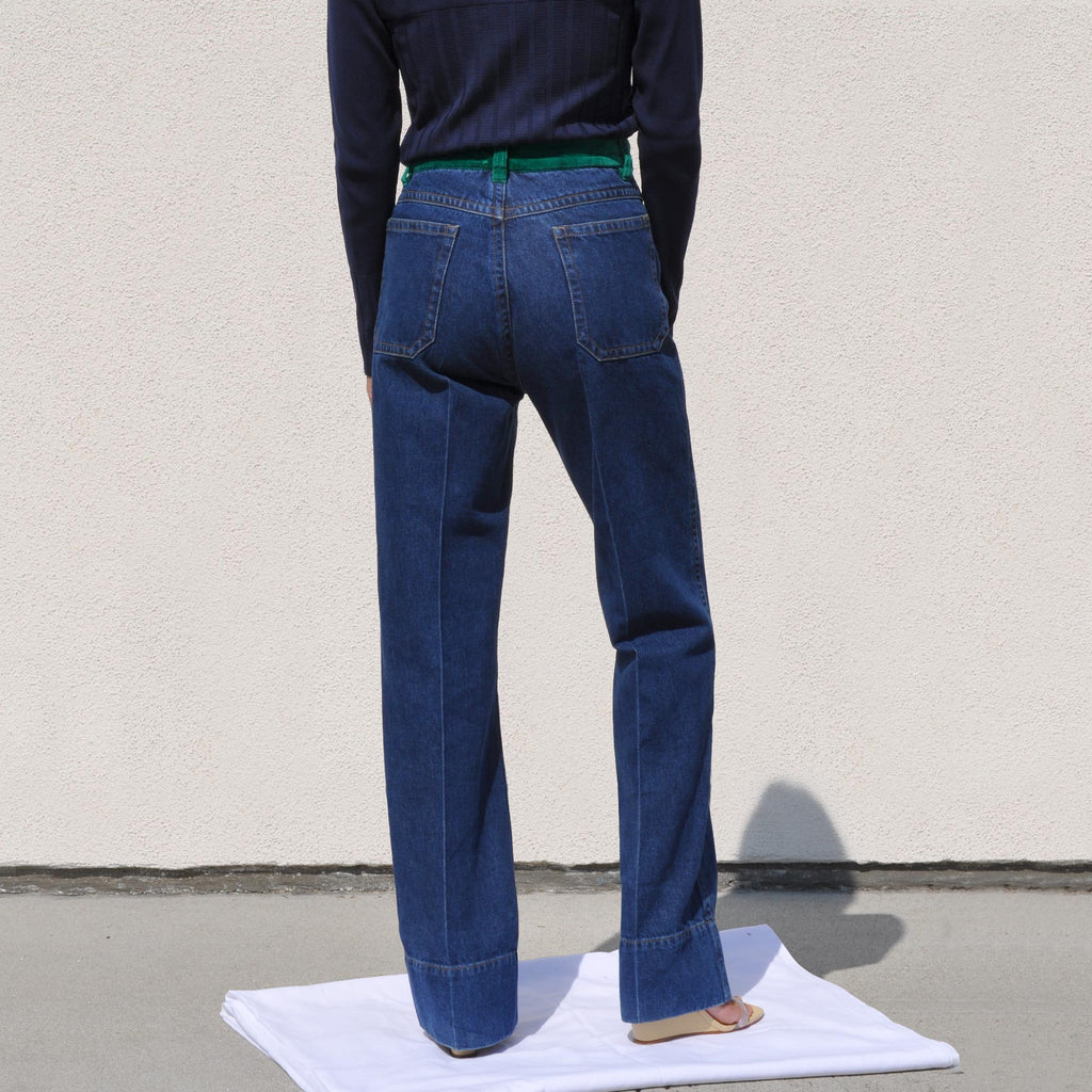 Wales Bonner - Dub Contrast Waist Jeans, back view, available at LCD.