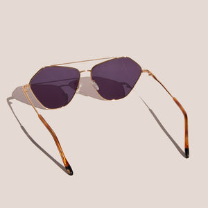 Le Specs - Dweller Sunglasses - Bright Gold, back view, available at LCD.