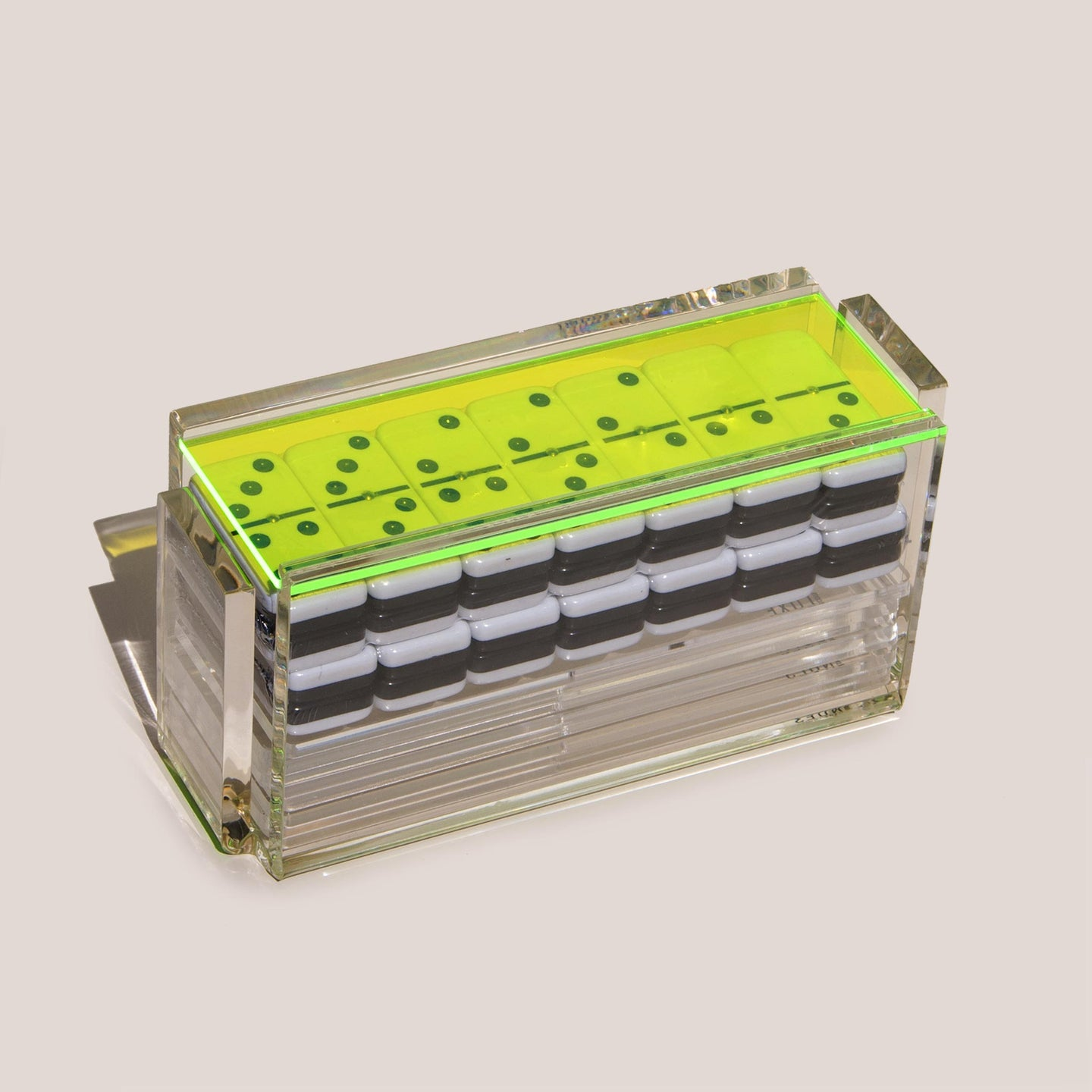 Luxe Dominoes - El Catire Domino Set, Neon Green, available at LCD.